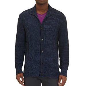 NEW Robert Graham Knit Button Up Sweater 100% Cotton Size 3XL Shuttle